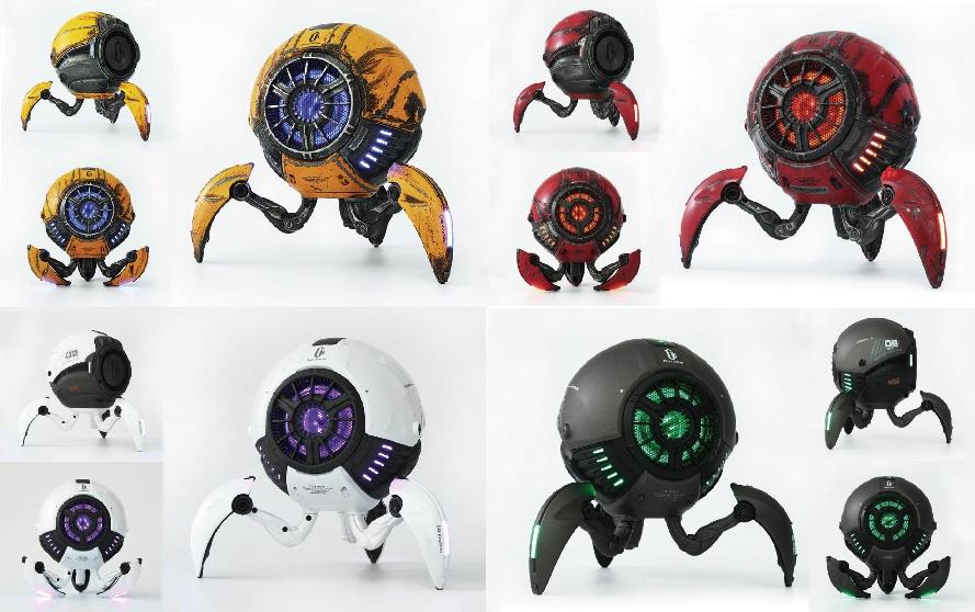 球体ロボット型ワイヤレススピーカー【Gravastar(グラバスター)】