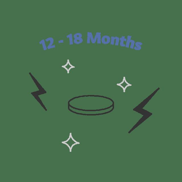 12-18 months battery
