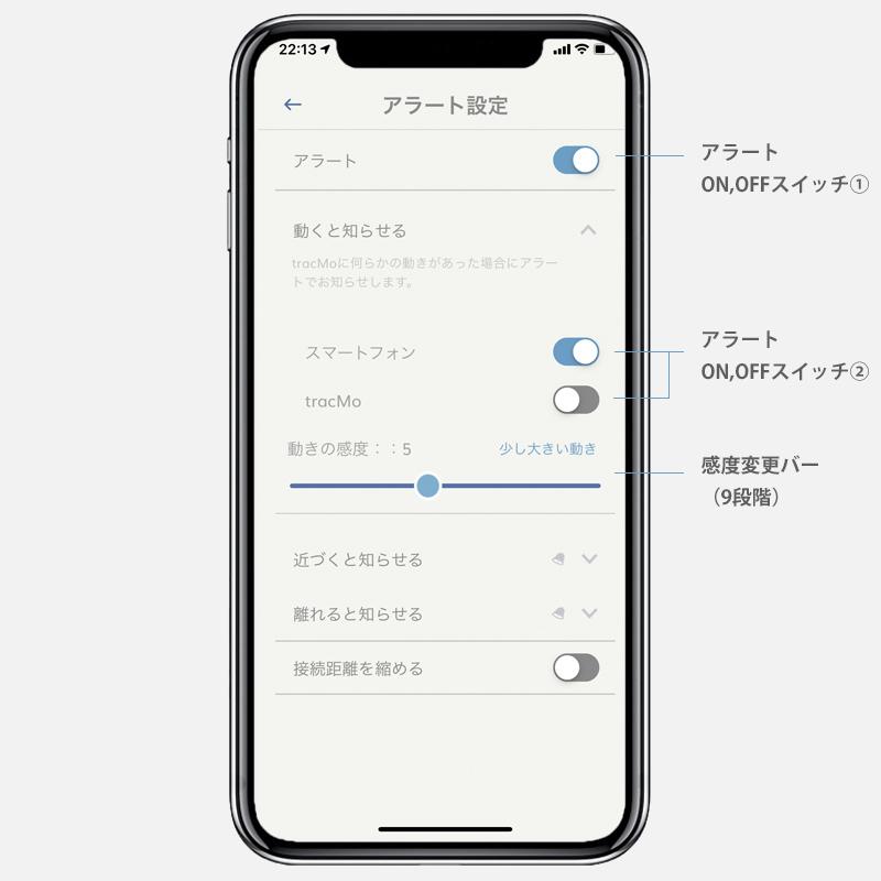 Tracmo アプリ