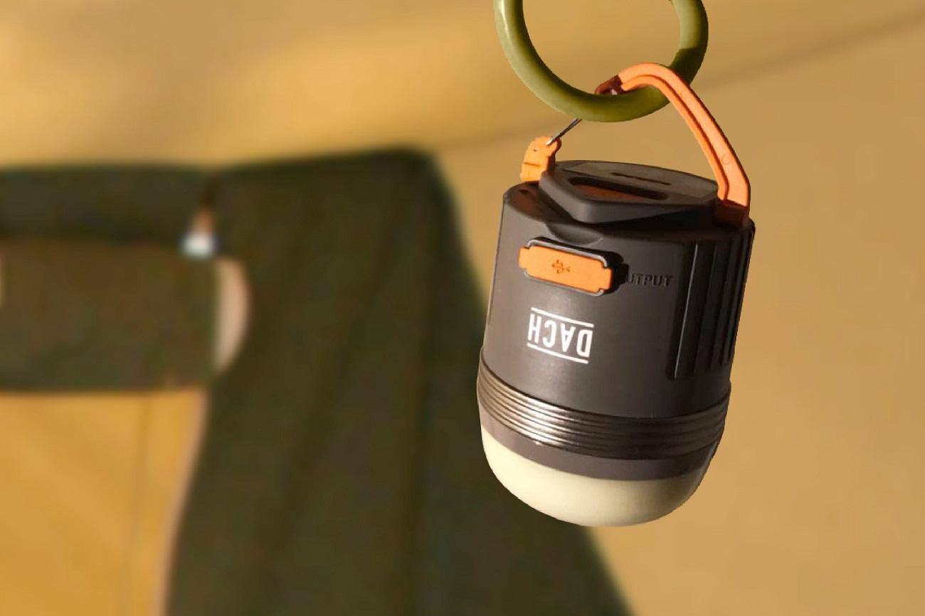 DACH LUNAR 2 LEDランタンに防水・モバイルバッテリー・調光・USB充電機能を搭載!