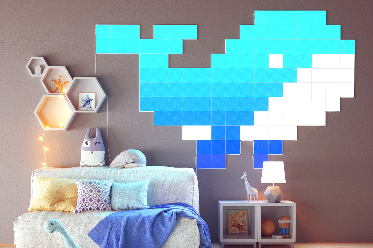Nanoleaf Canvas Smarter Kit タッチや音楽とシンクロして光るLEDパネル