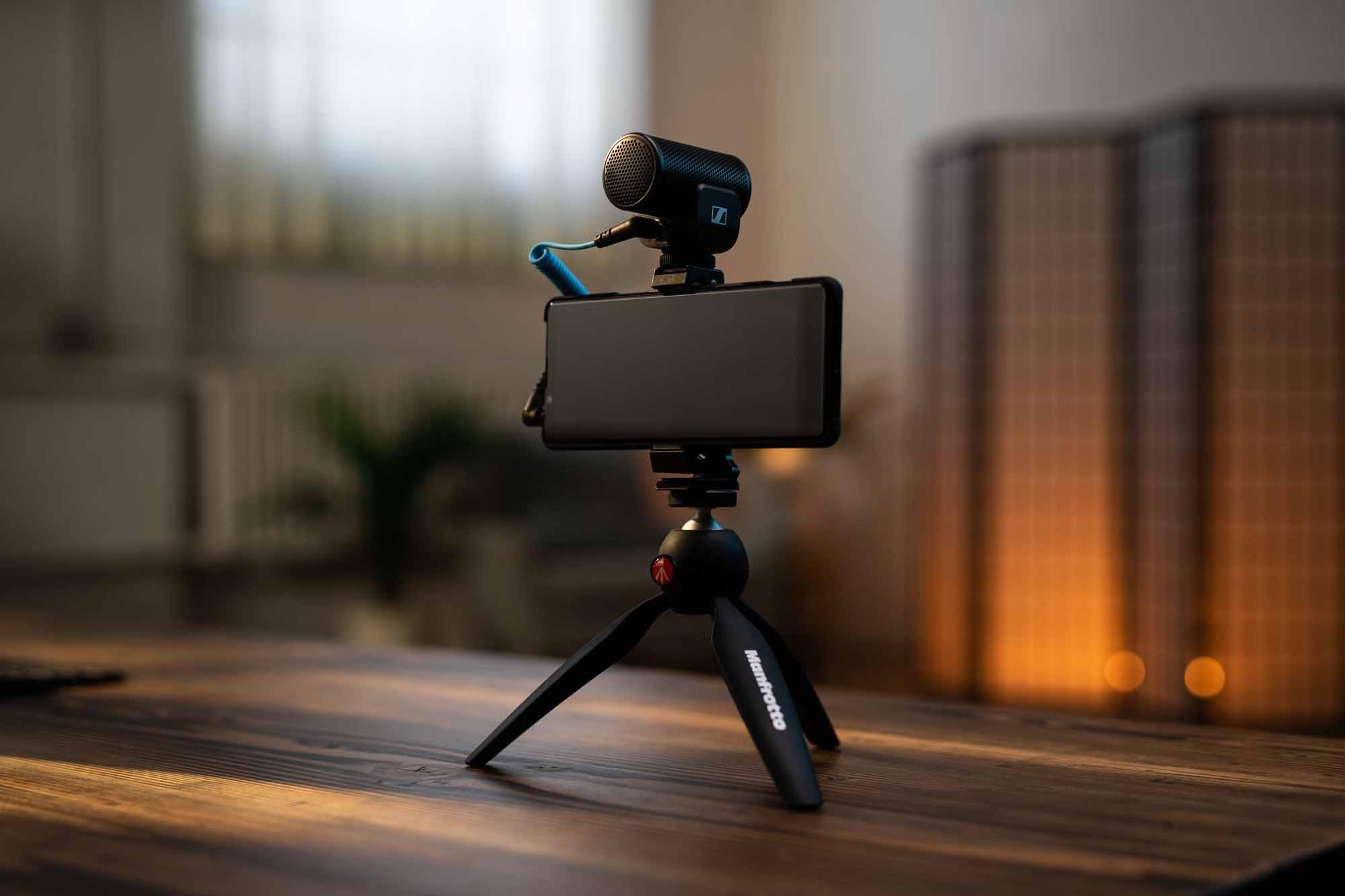 スマートフォン用のマイクにクランプと三脚のセット ゼンハイザー【Mobile Kitシリーズ】