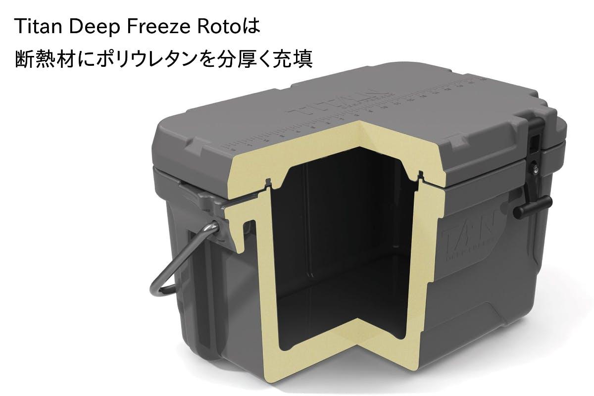 炎天下で氷を最大8日間キープするクーラーボックス【Titan Deep Freeze Roto】